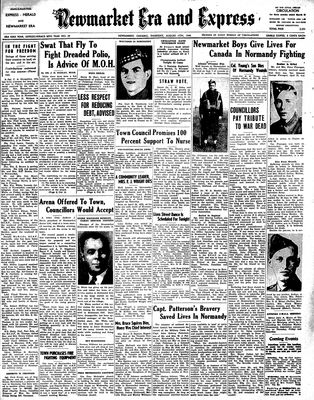 Newmarket Era and Express (Newmarket, ON), August 17, 1944