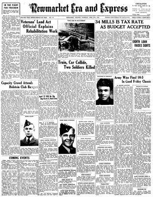 Newmarket Era and Express (Newmarket, ON), April 5, 1945