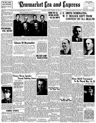 Newmarket Era and Express (Newmarket, ON), May 3, 1945