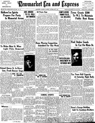 Newmarket Era and Express (Newmarket, ON), October 25, 1945