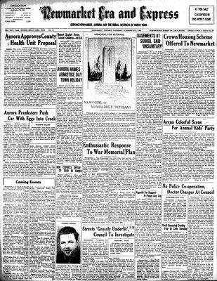 Newmarket Era and Express (Newmarket, ON), November 6, 1947