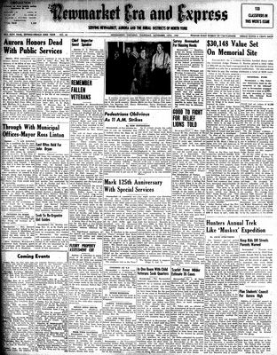 Newmarket Era and Express (Newmarket, ON), November 13, 1947