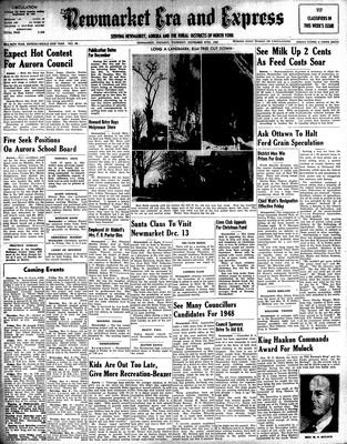 Newmarket Era and Express (Newmarket, ON), November 27, 1947