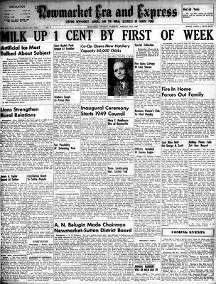 Newmarket Era and Express (Newmarket, ON), January 13, 1949