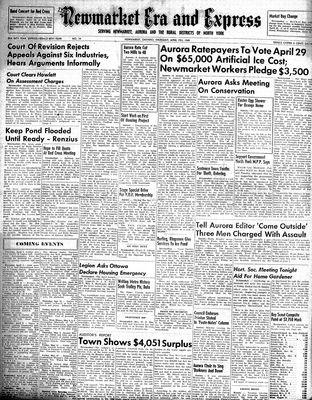 Newmarket Era and Express (Newmarket, ON), April 7, 1949