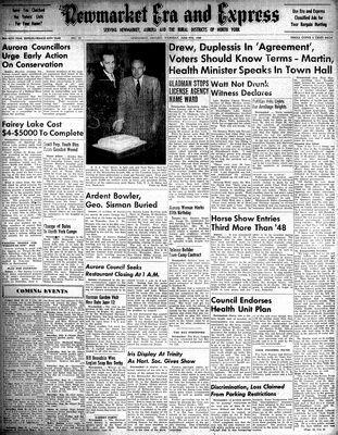 Newmarket Era and Express (Newmarket, ON), June 9, 1949