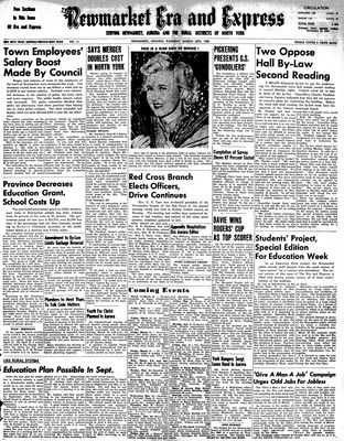 Newmarket Era and Express (Newmarket, ON), March 16, 1950