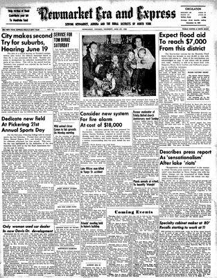 Newmarket Era and Express (Newmarket, ON), June 1, 1950