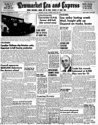 Newmarket Era and Express (Newmarket, ON), August 24, 1950