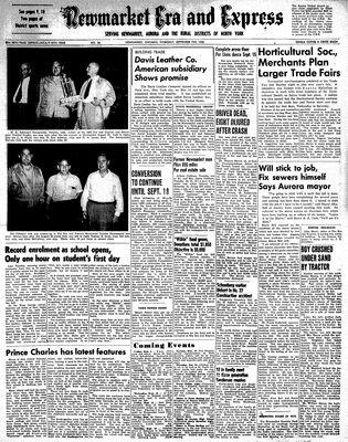 Newmarket Era and Express (Newmarket, ON), September 7, 1950