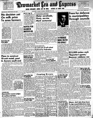 Newmarket Era and Express (Newmarket, ON), September 21, 1950