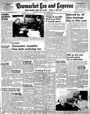 Newmarket Era and Express (Newmarket, ON), September 28, 1950