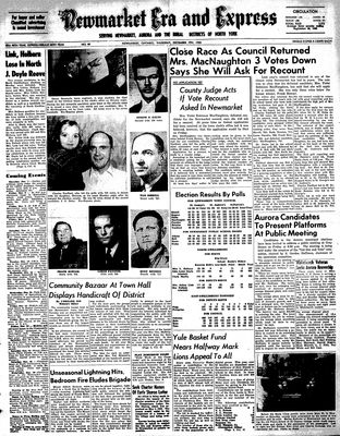 Newmarket Era and Express (Newmarket, ON), December 7, 1950