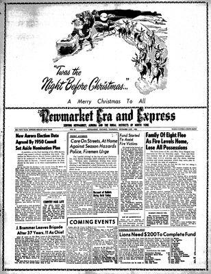 Newmarket Era and Express (Newmarket, ON), December 21, 1950