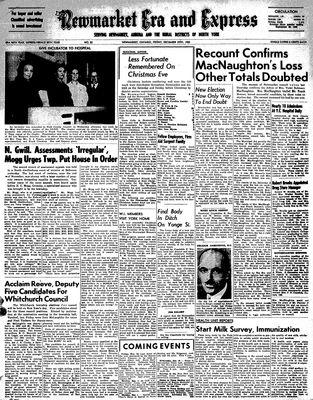 Newmarket Era and Express (Newmarket, ON), December 29, 1950