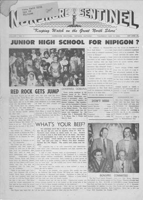 Norshore Sentinel (Nipigon, ON), 3 Nov 1960