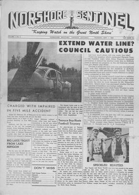 Norshore Sentinel (Nipigon, ON), 1 Sep 1960