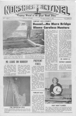 Norshore Sentinel (Nipigon, ON), 11 Oct 1962