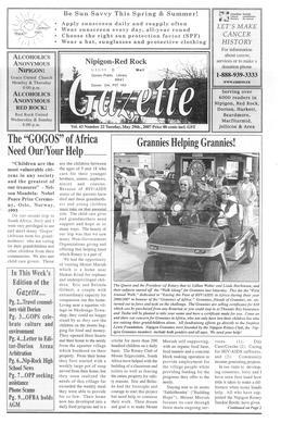 Nipigon Red-Rock Gazette, 29 May 2007
