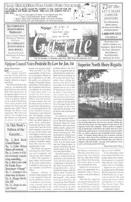 Nipigon Red-Rock Gazette, 31 Jul 2007