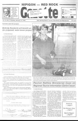 Nipigon Red-Rock Gazette, 12 Jan 1988