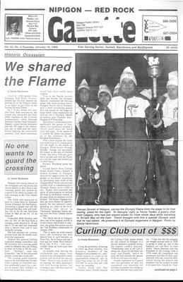 Nipigon Red-Rock Gazette, 19 Jan 1988