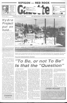 Nipigon Red-Rock Gazette, 26 Jan 1988