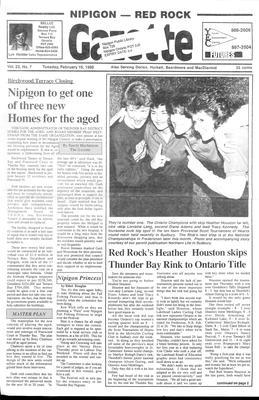 Nipigon Red-Rock Gazette, 16 Feb 1988