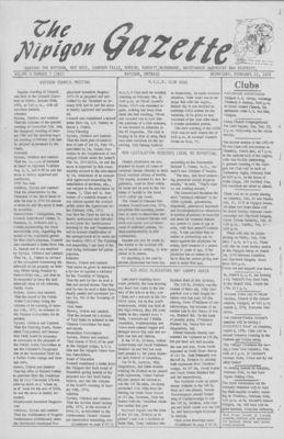 Nipigon Gazette, 23 February 1972