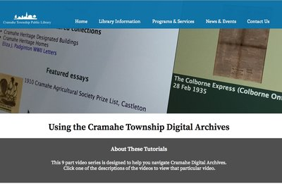 Using the Cramahe Township Digital Archives