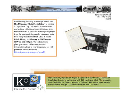Digitization Day, Head, Clara and Maria Public Library
