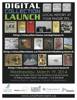 Chatham Kent Digital Collection Launch Poster