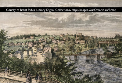 County of Brant Digital Collections lithograph postcard