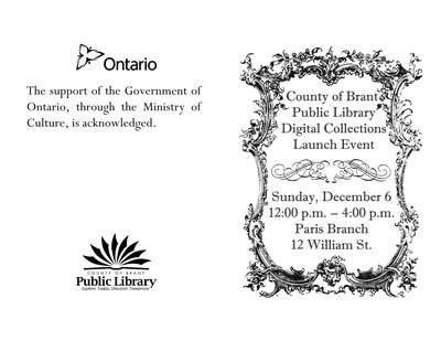 County of Brant Digital Collections Launch Brochure