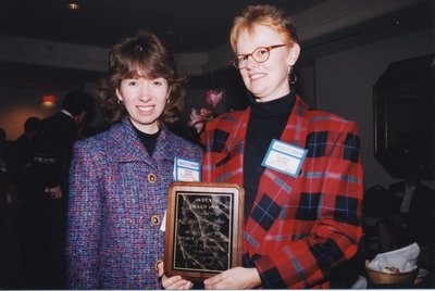 Vivian Lewis and Gloria Leckie at Super Conference 1998