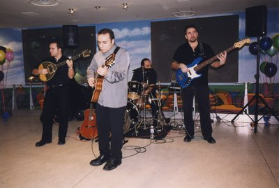 Pavlo and band play at the Super Conference 2000 party
