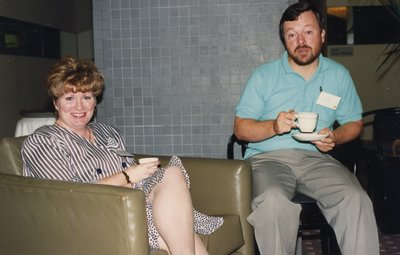 Rod Hall, AMPLO Chair, with an unidentified woman