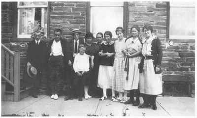 The Bray Family in front of their home at 49 Bronte Road.