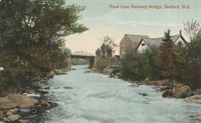 View from Railway Bridge, Bedford, N.S.