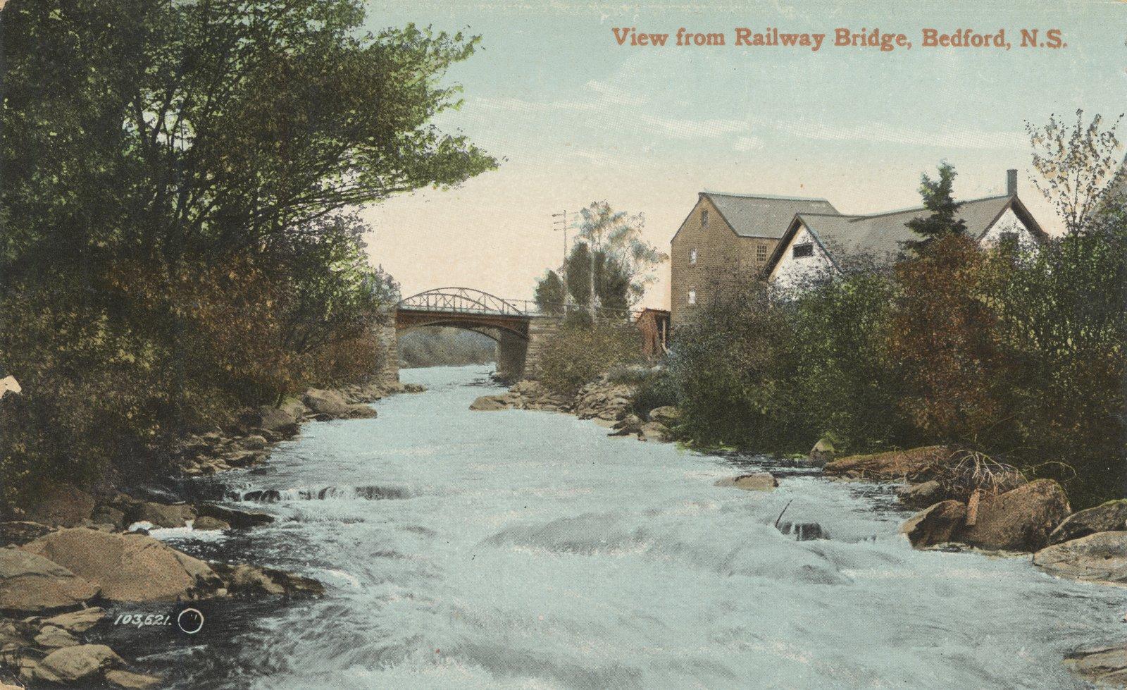 View from Railway Bridge, Bedford, N.S.