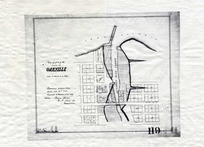 Plan of Oakville 1876