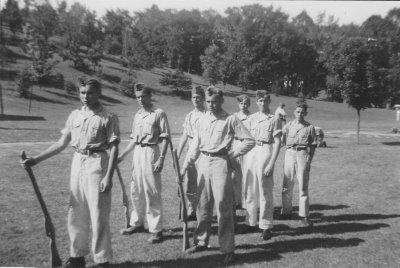 Cadets at Bolton Training Camp