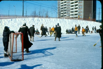 Ice Hockey at Centenial Square. Courtesy of the Town of Oakville.