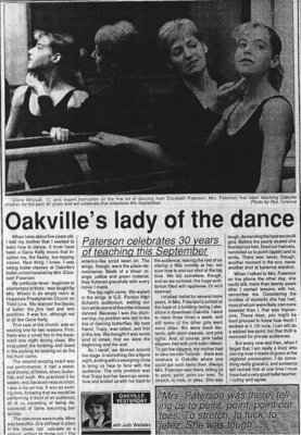 Oakville's Lady of the Dance
