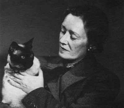 Hazel Chisholm Mathews with cat  OHS #956