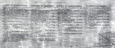 Tremaine's Map of the County of Halton 1858 – Township of Nassagaweya