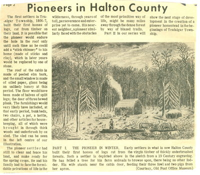 Pioneers in Halton County
