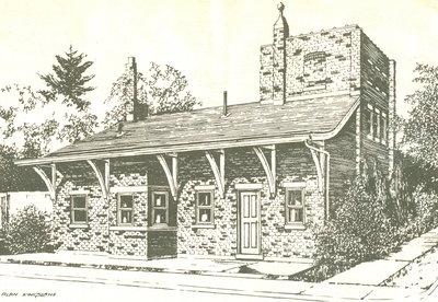 Courtesy Alan Kinsland: The old railway station