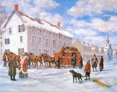 Weller Stage Coach at The Oakville House by George McElroy