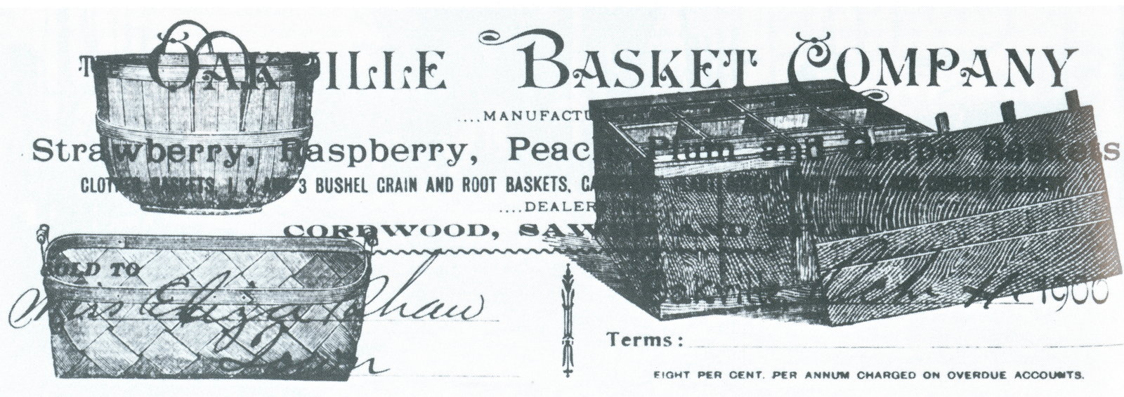 Oakville Basket Company advertisement